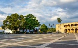 Ισπανικό τετράγωνο, Plaza de Espana Δομινικανή Δημοκρατία του Domingo Santo Στοκ εικόνες με δικαίωμα ελεύθερης χρήσης