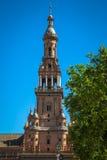 Ισπανικό τετράγωνο (Plaza de Espana) στη Σεβίλλη, Ισπανία Στοκ Εικόνες