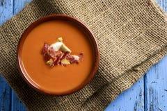 Ισπανικό antequerana porra, μια κρύα σούπα ντοματών Στοκ Φωτογραφίες