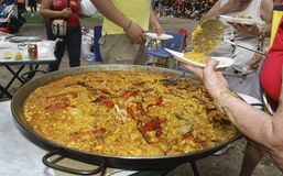 Ισπανικό paella Αλικάντε Στοκ Εικόνα