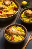 Ισπανικό paella κοτόπουλου Στοκ φωτογραφίες με δικαίωμα ελεύθερης χρήσης