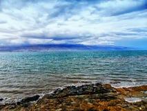 Ισραήλ, Μέση Ανατολή, η νεκρή θάλασσα, στην κοιλάδα της Ιορδανίας Στοκ Εικόνα