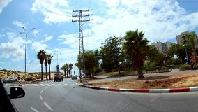 Ισραήλ, Ashdod - το Σεπτέμβριο του 2018 Μήκος σε πόδηα που επιδεικνύει τις οδ απόθεμα βίντεο