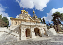 Ισραήλ Ιερουσαλήμ - 15 Φεβρουαρίου 2017 Εκκλησία του ST Mary Magdalene Στοκ Εικόνες