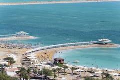 Ισραήλ νεκρή θάλασσα Παραλία Στοκ Φωτογραφίες