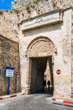 Ισραήλ, στρέμμα, η πύλη στην παλαιά πόλη Στοκ εικόνα με δικαίωμα ελεύθερης χρήσης