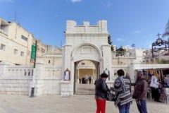 Ισραήλ nazareth - 17 Φεβρουαρίου 2017 Εκκλησία Greeck ortohodox Annunciation Στοκ Φωτογραφίες