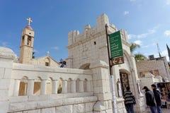 Ισραήλ nazareth - 17 Φεβρουαρίου 2017 Εκκλησία Greeck ortohodox Annunciation Στοκ φωτογραφία με δικαίωμα ελεύθερης χρήσης