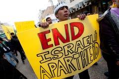 ισραηλινή διαμαρτυρία Παλαιστίνιων επαγγέλματος Χεβρώνας Στοκ φωτογραφίες με δικαίωμα ελεύθερης χρήσης