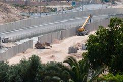 ισραηλινός τοίχος χωρισμ στοκ φωτογραφίες