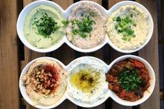 Ισραηλινό σύνολο πρόχειρων φαγητών στοκ φωτογραφία