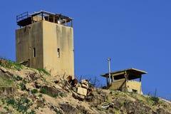 Ισραηλινά σύνορα της Ιορδανίας Στοκ Εικόνες