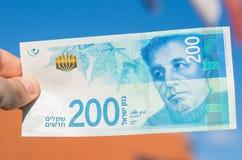 Ισραηλινός νέος λογαριασμός shakel διακόσια Στοκ εικόνες με δικαίωμα ελεύθερης χρήσης
