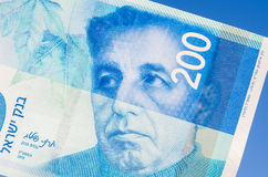 Ισραηλινός νέος λογαριασμός shakel διακόσια Στοκ εικόνα με δικαίωμα ελεύθερης χρήσης