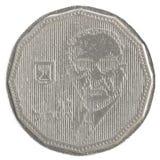 5 ισραηλινό νέο νόμισμα Sheqel - έκδοση Eshcol επιβολής Στοκ Φωτογραφίες