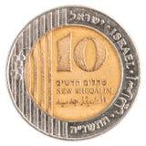 10 ισραηλινό νέο νόμισμα Sheqel Στοκ φωτογραφία με δικαίωμα ελεύθερης χρήσης