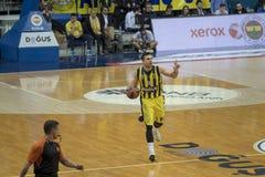 Ιστανμπούλ/Τουρκία - 20 Μαρτίου 2018: Επαγγελματικό παίχτης μπάσκετ Sloukas Kostas για Fenerbahce στοκ εικόνες