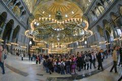 ΙΣΤΑΝΜΠΟΎΛ, ΤΟΥΡΚΙΑ - 28 ΜΑΡΤΊΟΥ 2012: Εσωτερικό του Hagia Sophia στοκ εικόνες με δικαίωμα ελεύθερης χρήσης