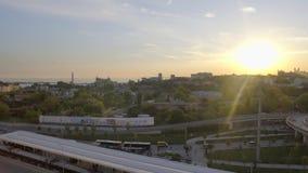 ΙΣΤΑΝΜΠΟΎΛ - ΤΟΥΡΚΙΑ στις 28 Απριλίου 2016 - ηλιοβασίλεμα της πόλης απόθεμα βίντεο