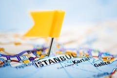 Ιστανμπούλ σε έναν χάρτη Στοκ Εικόνα