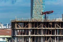Ιστανμπούλ, Τουρκία - 11 Νοεμβρίου 2016: Εργάτες οικοδομών στο α Στοκ Εικόνες