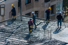 Ιστανμπούλ, Τουρκία - 11 Νοεμβρίου 2016: Εργάτες οικοδομών στο α Στοκ Φωτογραφίες