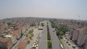Ιστανμπούλ-ΤΟΥΡΚΙΑ στις 10 Ιουνίου 2016/εναέριος πυροβολισμός της κυκλοφορίας στην πόλη απόθεμα βίντεο