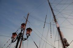 Ιστοί θέσεων και σκαφών λαμπτήρων Στοκ Εικόνα