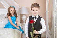 Ιστορία αγάπης παιδιών Στοκ Εικόνες