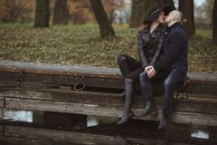 Ιστορία αγάπης που πυροβολείται ενός ζεύγους Στοκ εικόνες με δικαίωμα ελεύθερης χρήσης
