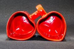Ιστορία αγάπης φλυτζανιών τσαγιού Στοκ εικόνες με δικαίωμα ελεύθερης χρήσης
