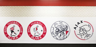 Ιστορία εμβλημάτων Ajax Στοκ Εικόνες