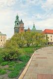 ιστορία Κρακοβία μεσαιωνική αναμνηστική Πολωνία κάστρων wawel Προαύλιο Στοκ Εικόνα