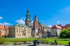 ιστορία Κρακοβία μεσαιωνική αναμνηστική Πολωνία κάστρων wawel Στοκ Φωτογραφίες