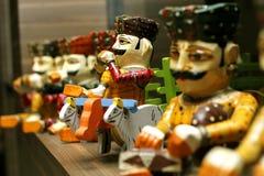 Ιστορία που λέει τα ξύλινα παιχνίδια Στοκ εικόνες με δικαίωμα ελεύθερης χρήσης
