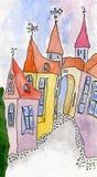 ιστορία σπιτιών νεράιδων Στοκ Εικόνες