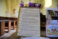 Ιστορία της εκκλησίας του ST Botolphs Botolphs, Σάσσεξ, UK στοκ φωτογραφίες