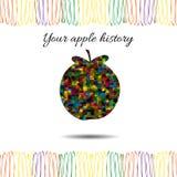 Ιστορία της Apple επίσης corel σύρετε το διάνυσμα απεικόνισης απεικόνιση αποθεμάτων