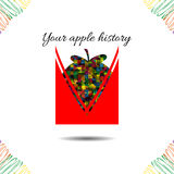 Ιστορία της Apple επίσης corel σύρετε το διάνυσμα απεικόνισης διανυσματική απεικόνιση