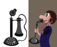 Ιστορία του τηλεφώνου 1 διανυσματική απεικόνιση