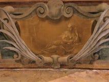 Ιστορία, χρόνος και ομορφιά Εκλεκτής ποιότητας διακόσμηση και κομψότητα τοίχων στοκ εικόνα