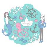 Ιστορίες θάλασσας Στις διαφορετικές πλευρές στοκ εικόνα