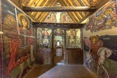 Ιστορικά έργα ζωγραφικής εικονιδίων στο εσωτερικό της εκκλησίας του αρχαγγέλου Micha Στοκ Εικόνα