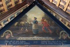 Ιστορικά έργα ζωγραφικής κάτω από τη στέγη της γέφυρας παρεκκλησιών από Hans Heinrich Wgmann σε Λουκέρνη στοκ φωτογραφίες με δικαίωμα ελεύθερης χρήσης