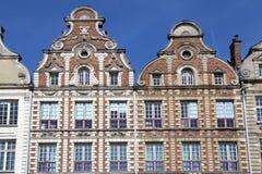 Ιστορικά αετώματα σε Arras, Γαλλία Στοκ Εικόνες