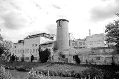 Ιστορικά βιομηχανικά κτήρια στη Δημοκρατία της Τσεχίας Στοκ Εικόνες