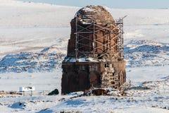 Ιστορικά καταστροφές Ani και χειμερινά τοπία, Kars, Τουρκία Στοκ Εικόνες