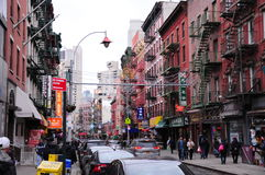 Ιστορικά κτήρια αρχιτεκτονικής της Νέας Υόρκης Στοκ Εικόνα