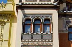 Ιστορικά κτήρια και μνημεία της Σεβίλης, Ισπανία Ισπανικές αρχιτεκτονικές μορφές γοτθικός και Mudejar, μπαρόκ στοκ εικόνες