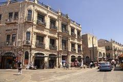 Ιστορικά κτήρια κοντά στην πύλη Jaffa στην παλαιά πόλη Jerusal στοκ φωτογραφία με δικαίωμα ελεύθερης χρήσης